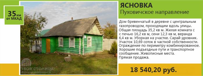Продается дом, Ясновка(Пуховичское направление)