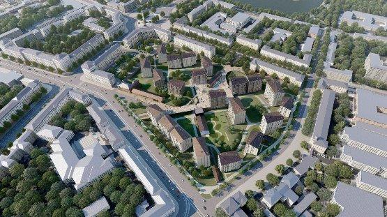 ЖК на месте бывшего троллейбусного депо №1 в Минске от Сергей Скуратов architects