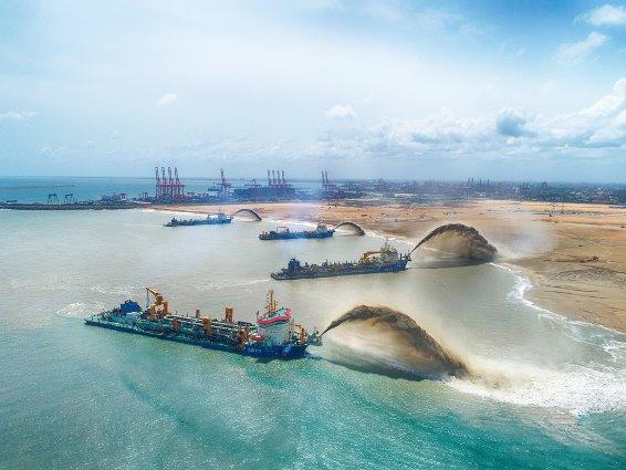 Застройка мегаполиса в Коломбо Шри-Ланка