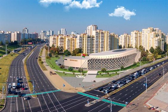 Строительство Национального исторического музея на пр. Машерова в Минске