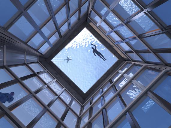 Бассейн ан крыше небоскреба